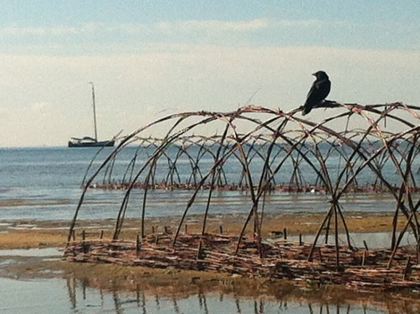"'Waddland"" a temporary eco-sculptural intervention on the Waddenzee by Dutch theatre group SLeM"